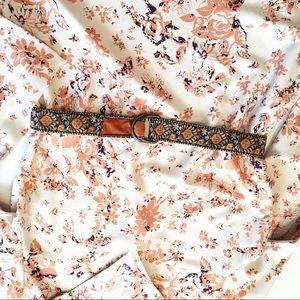 Vintage Tapestry Belt Boho Hippie Festival Velvet